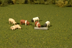 Woodland Scenics SCENIC ACCENTS #2767 O Scale HEREFORD COWS NEW A2767