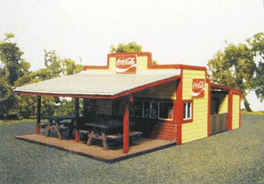 Branchline Trains Burger Stand - Laser-Art -- Laser-Cut Wood Kit - HO