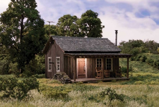 #BR5065 Woodland Scenics Rustic Cabin HO Scale