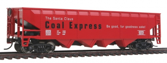 Ho Christmas Train.Walthers Offset Hopper Ready To Run Santa Claus Coal Express Ho